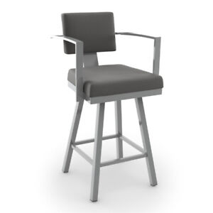 New Bar stool - This Akers Swivel Bar Stool Counter - grey