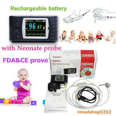 Infant Finger Pulse Oximeter Pediatric Blood Oxygen Spo2 Pr Monitor Sleep Record