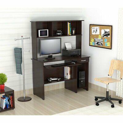 Inval Espresso Computer Desk with Hutch