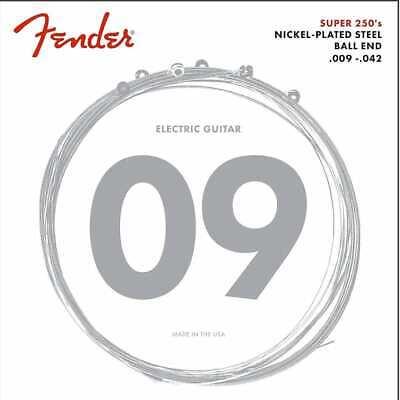 Fender Acero Niquelado Extremo de Bola 09-42, Cuerdas Guitarra Eléctrica Luz