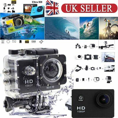 """1080P Sports Cam Action Camera HD 2"""" Waterproof Under Water Camcorders Video DV"""