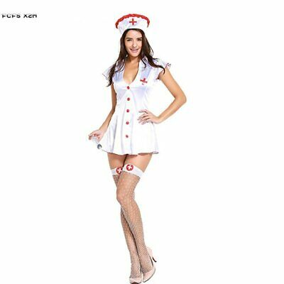 Sexy Woman Halloween Nurse Costume for Female Doctors Role play Cosplay Carnival