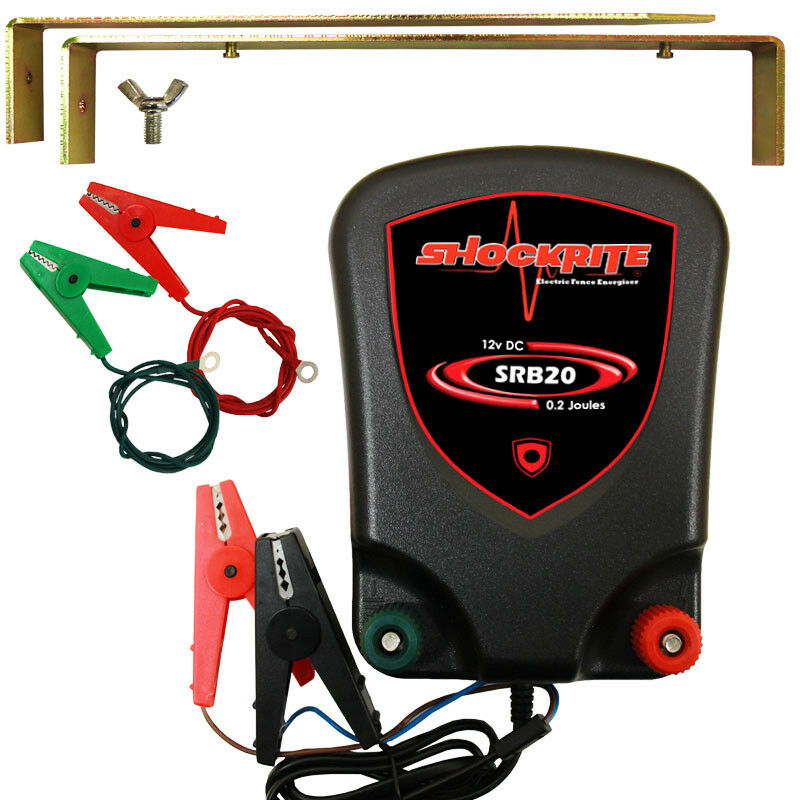 Electric Fence Energiser Shockrite Srb20 Battery Powered