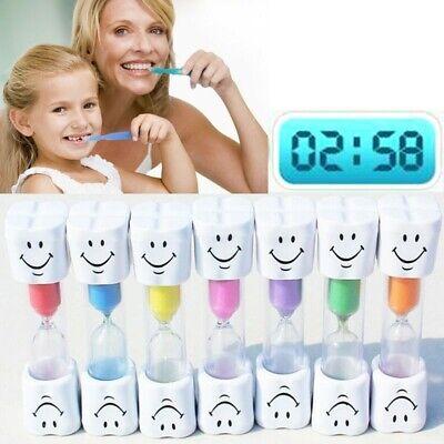 1Pcs 2 Minute Smiley Sand Kids Toothbrush Timer Hourglass Egg Timer Timer