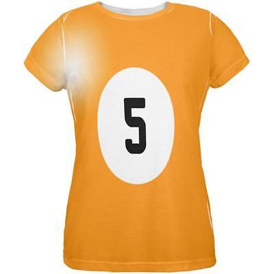 Top Five Halloween Costumes (Halloween Billiard Pool Ball Five Costume Womens T)