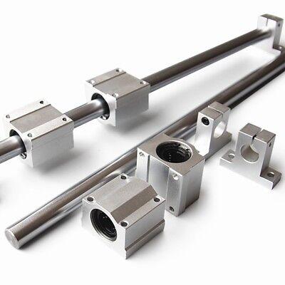 Od 10mm Shaft Rod Optical Axis Linear Rail Support Ball Bearing Block Set