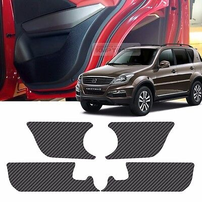 Carbon Door Decal Sticker Cover Kick Protector For SSANGYONG 2013-2015 Rodius