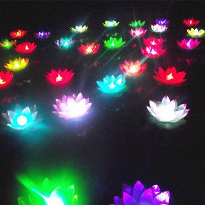 Led Schwimmende Lotusblüte Lampe auf dem Wasser Schwimmbad Garten Dekoration