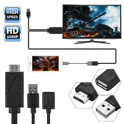 Cell Phone To TV HDMI Cable Adapter HDTV For Android Samsung Galaxy S9 S8