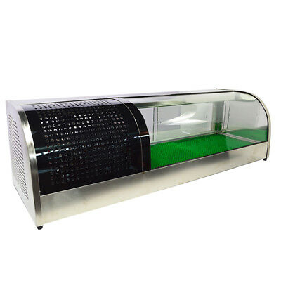 60 Sushi Display Case Refrigerated Stainless Showcase Retailing Show Cabinet 11