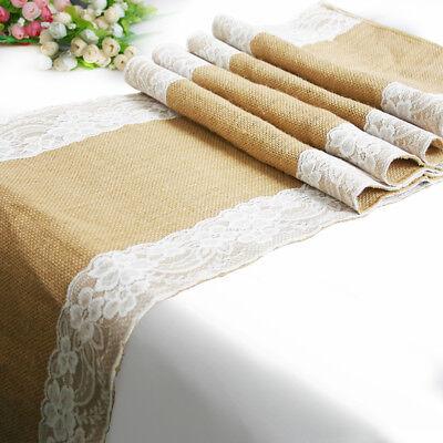 Tischläufer Juteband Tischband Hochzeit Tischdeko Vintage (Spitze Läufer)