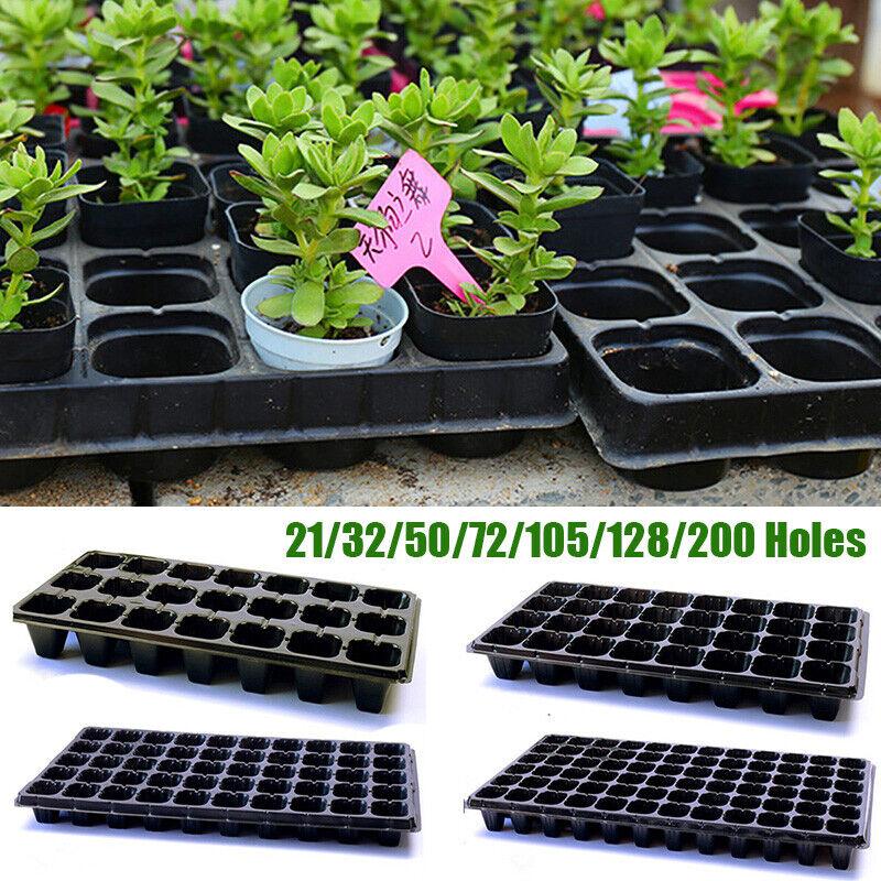 Plastic Nursery Tray Bonsai Flower Pot Green Succulent Plants Pot Seed Grow Box