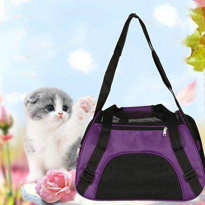 Pet Carrier Soft Sided Large Cat Dog Comfort Purple Travel Bag Airline Approved
