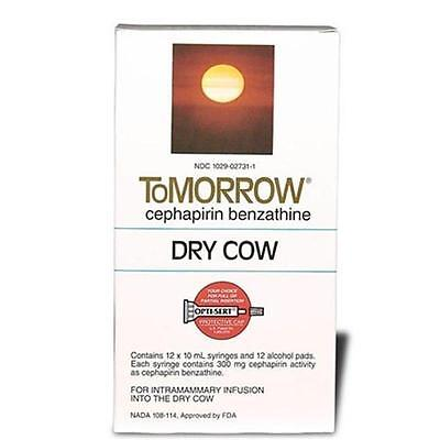 Tomorrow Cefa-dri Mastitis Dry Cow Tubes Dairy Cattle 12ct Box