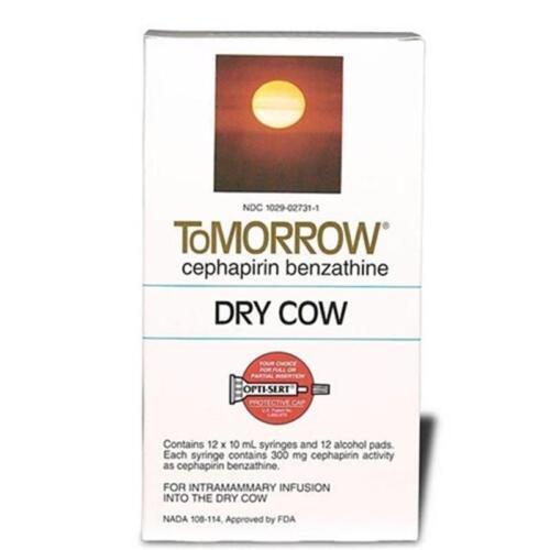 TOMORROW CEFA-DRI MASTITIS DRY COW TUBES Dairy Cattle 12ct Box