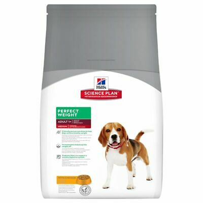 Hills Science Plan Canine Adult Perfect Weight Medium Breed Dogs Dry Food 10kg