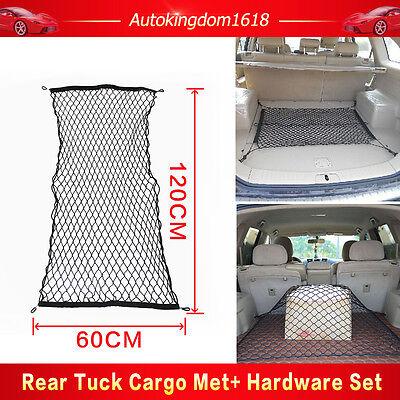 Mesh Nylon Car Rear Cargo Trunk Storage Organizer Net For SUV Mounting kit USA