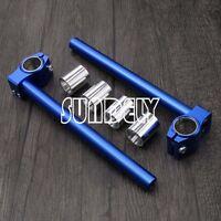 7/8'' Adjustable Cnc Clip On Handlebars Fork Tube 280mm Blue Bar Motorcycle - sundely - ebay.co.uk