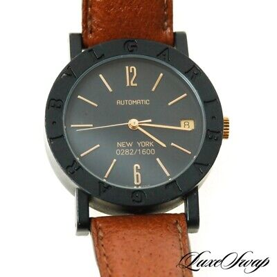 Bvlgari Bulgari Swiss Made New York Limited Edition Carbon Automatic 33mm Watch for sale  Shipping to India