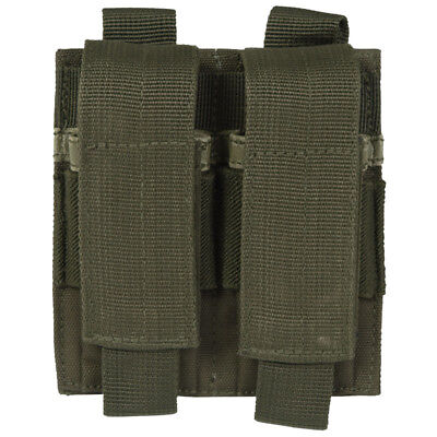Army Tactical Double Pistol Mag Ammo Pouch MOLLE System Webbing Airsoft Olive OD