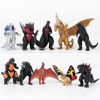 Godzilla 2 King of the Monster Shin Kaiju Gigan Ghidorah 10 pcs Toy Figures Set