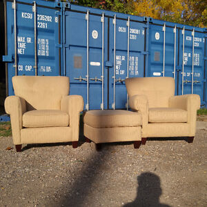 Beautiful Set Of Armchairs w/ Footstool