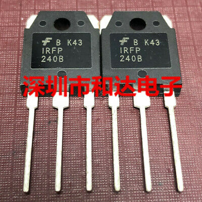 5 X Irfp240b Fp240b N-channel Mosfet To-3p 200v 20a