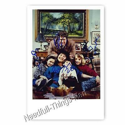 Roseanne Barr, John Goodman, Sara Gilbert, A. Goranson, Fishman  Autogrammfoto 