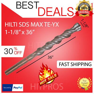 Hilti Te-yx Sds Max Hammer Drill Bit 1-18 X 36 Brand New Fast Shipping