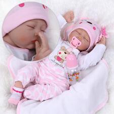"22"" NPK Solid Silicone Lifelike Baby Doll Preemie Handmade Dolls Gift Toy US"