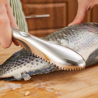 1PC Fish Cleaning Knife Skin Scraper Peeler Stainless Steel Scaler Remover Brush