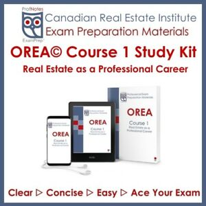 OREA Real Estate Course 1 2019 Exam Prep Kit