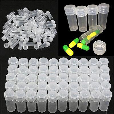 5ml Plastic Sample Bottle Test Tube Mini Small Bottles Vials Storage - Craft Tubes