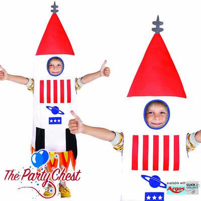 CHILD ROCKET SHIP COSTUME Boys Girls NASA Spaceman Space Ship Fancy Dress - Rocket Girl Kostüm