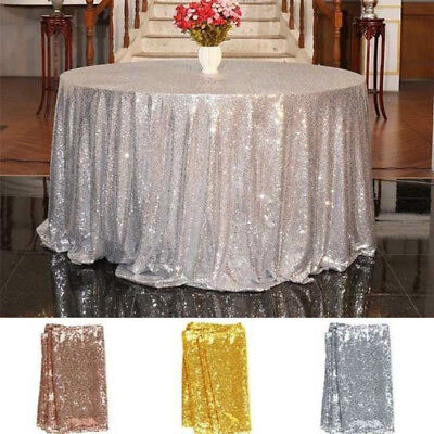 Sequin Tablecloth Cover Glitter Wedding Party Banquet Table Linens Decoration