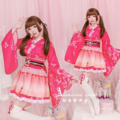 Lovelive Maki Nishikino Kimono Dress Women Full Suit Cosplay Costumes Skirt  - Full Suit Costumes