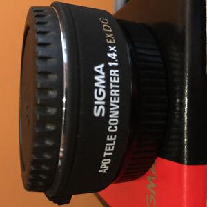 Sigma to canon tele converter 1.4x DG