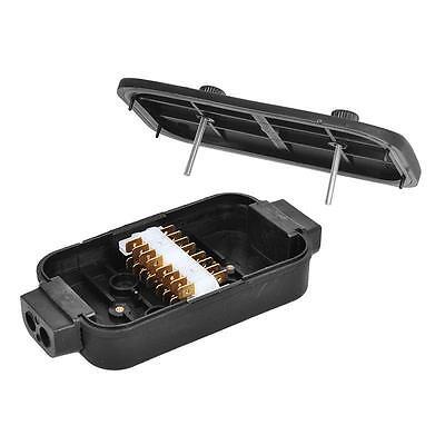 2 Piezas Distribuidor Lata Caja 8x4 Polos Plástico Uniones Cable Colgante