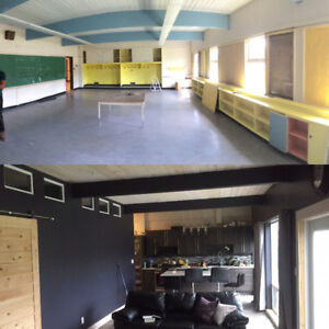Renovated 17000 sq school with detached duplex.