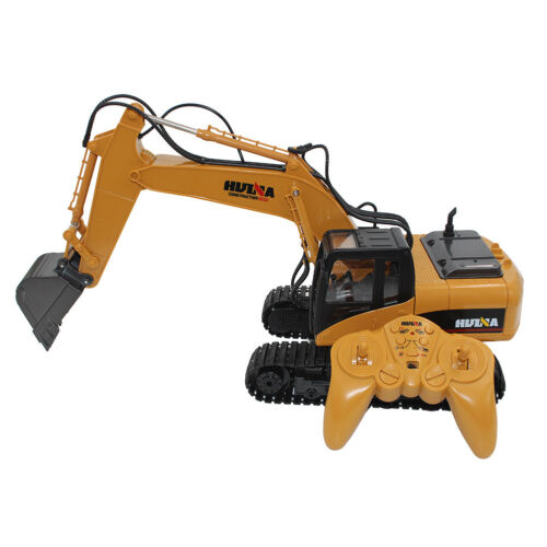 HUINA 1550 1:14 2.4G RC Alloy Truck Excavator 15Channel Charging Crawler Tractor