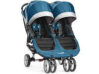 Twin City Stroller Pushchair - Teal - As good as New