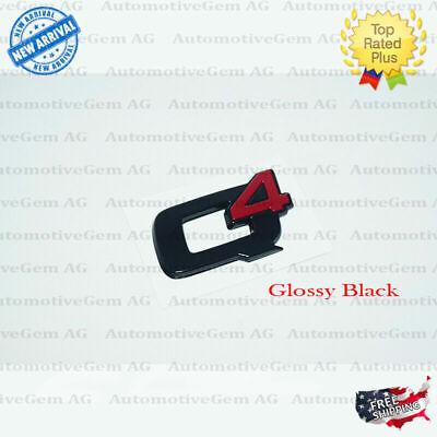 OEM Alfa Romeo Q4 Emblem Glossy Black Logo Trunk Lid Emblem Badge Sticker