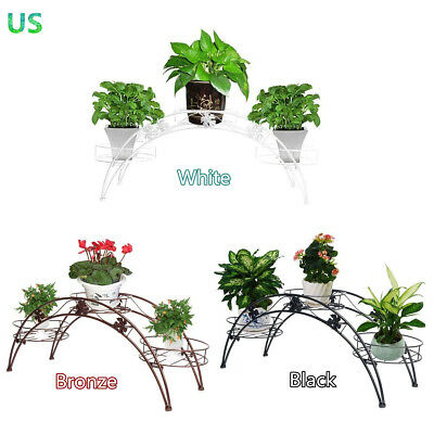 3 Tier Plant Stands - 3 Tier Arch Metal Potted plant Stand with 3 holders Potted Plant Rack Organizer