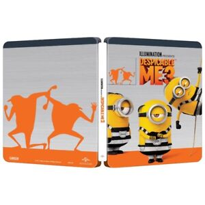 Despicable Me 3 Blu Ray +DVD Combo SteelBook(BRAND NEW)