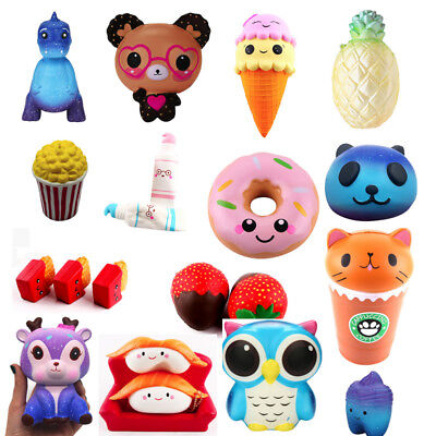 Jumbo Slow Rising Squishies Scented Cute Squishy Squeeze Charm Toys Present - Squeeze Toys