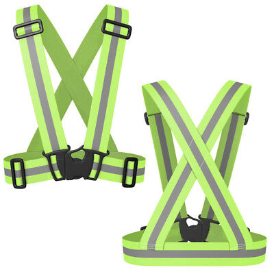 Reflective Vest Gear High Visibility Running Cycling Motorcycle Safety Bands