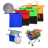 4 Reusable Shopping Tote Grocery Cart Storage Bags with insulated Cold bag