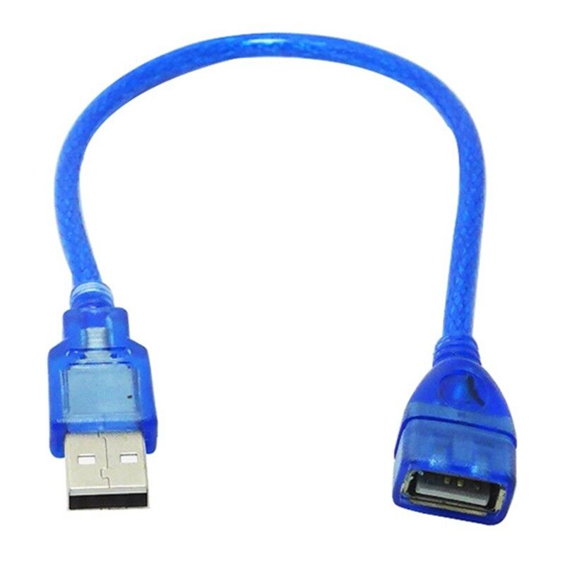 Premium 1.5//3M USB 2.0 A Male To A Female M//F Extension Extender Cable Cord Blue