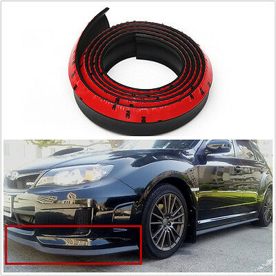 25m Black Car Front Bumper Spoiler Lip Kit Splitter Valance Chin Protector Kits