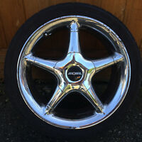 5 tires ad 4 rims for sale